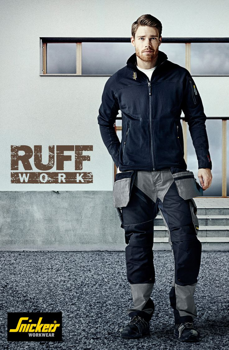 RuffWork trousers are hardwearing and developed for tough jobs in demanding environments. Modern heavy-duty work #trousers combining amazing fit with reinforced functionality. #RuffWork