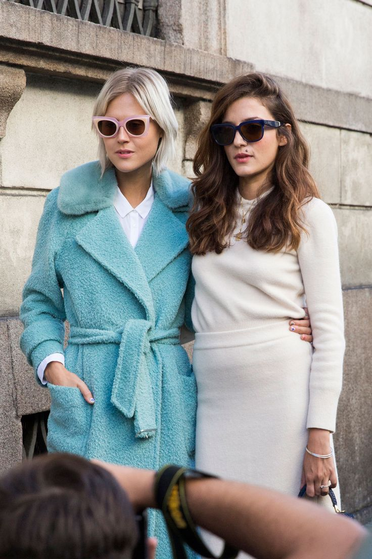 Street fashion: Milan Fashion Week wiosna-lato 2016, fot. Imaxtree