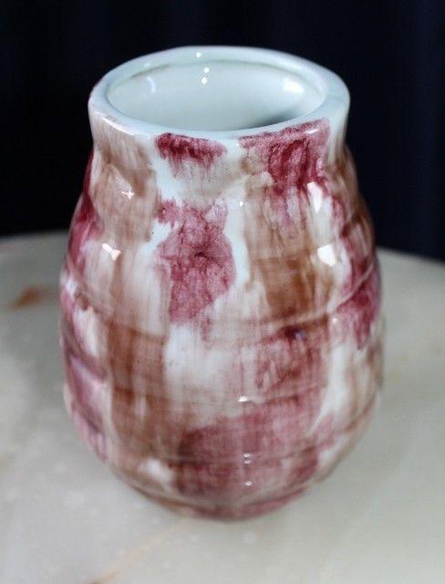 Vintage Australian Pottery Ribbed Pot With Beautifully Toned Heavy Salt Glazes #RIBBED