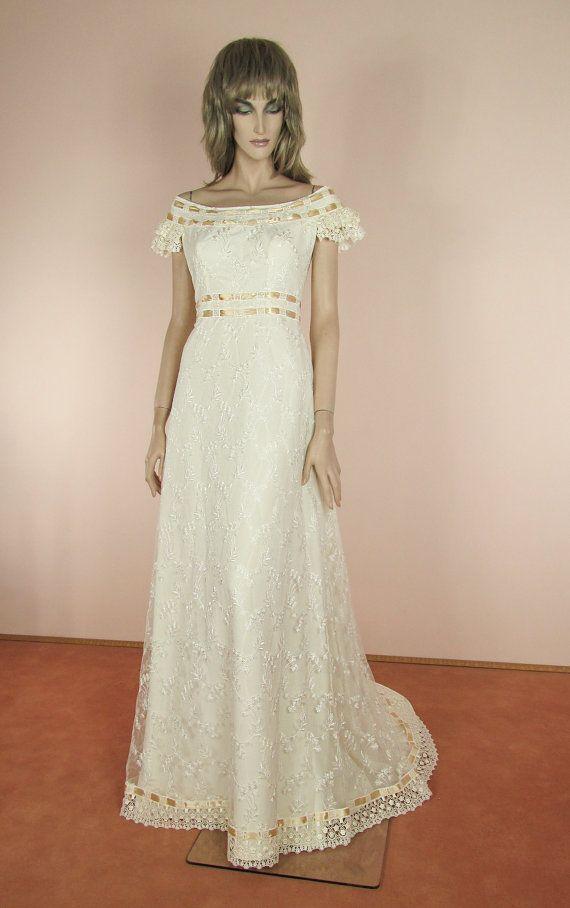 Robe de mariee vintage annee 70
