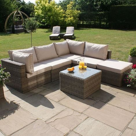 Marvelous Winchester Square Rattan Corner Garden Set Perfect for your garden terrace or patiot