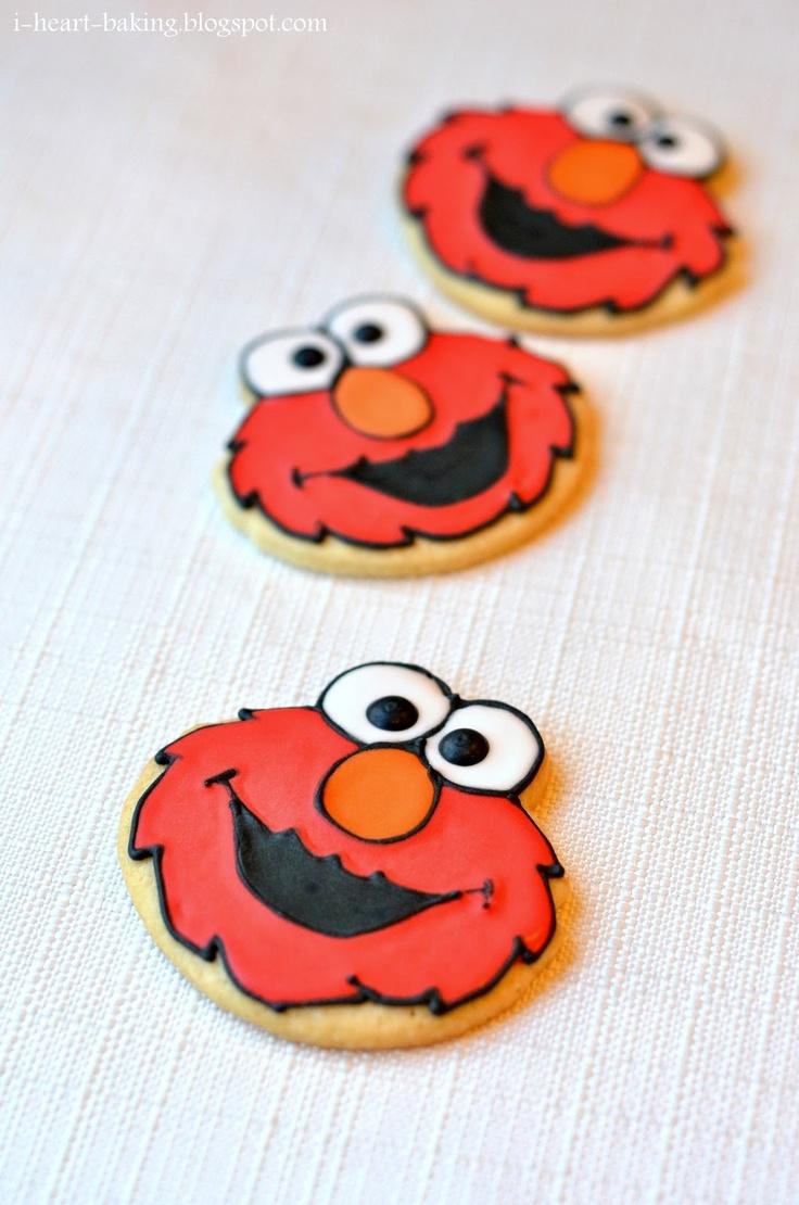 elmo cookies tutorial