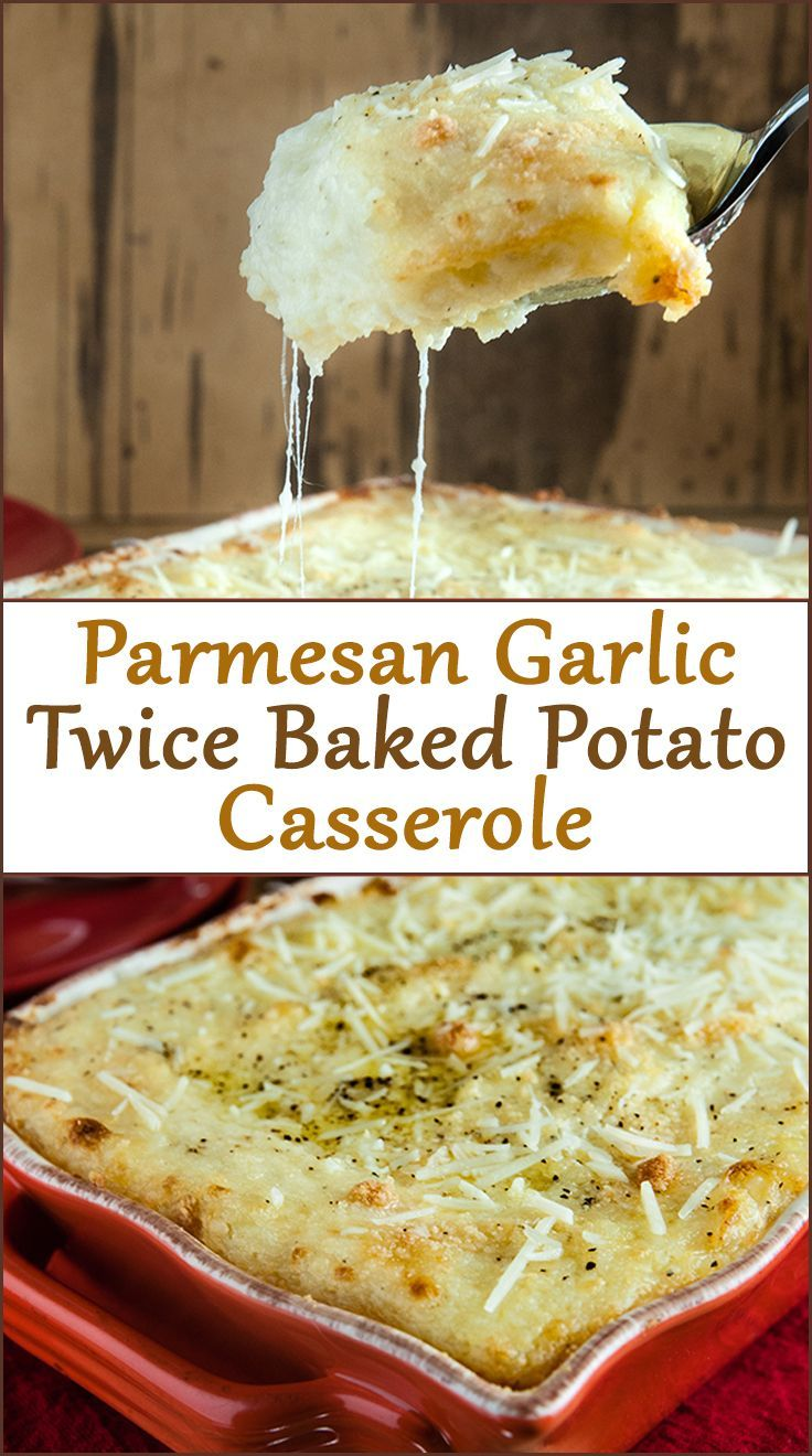Parmesan Garlic Twice Baked Potato Casserole from http://www.SeasonedSprinkles.com