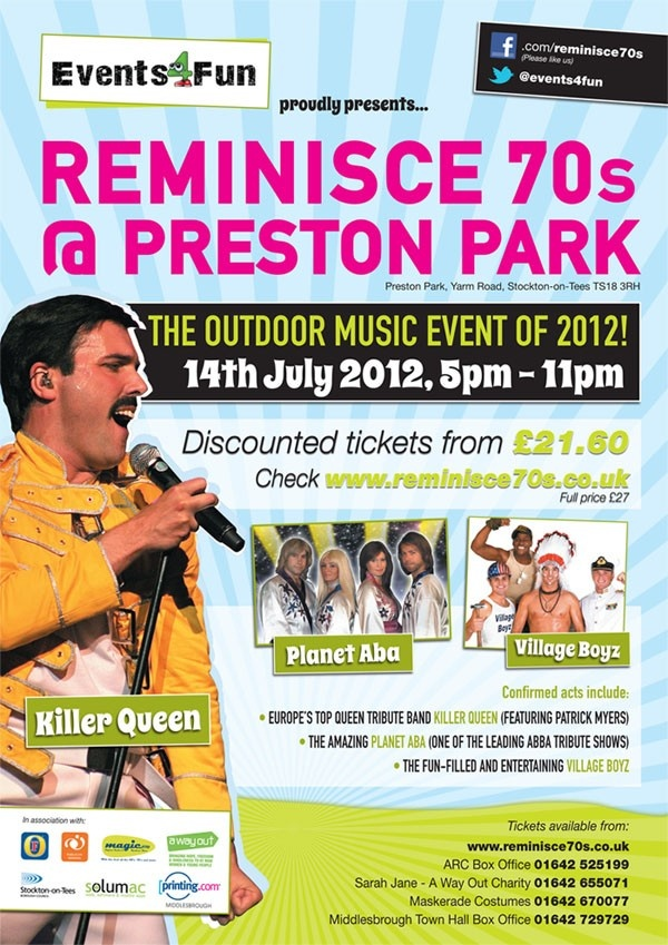 I will be reliving the '70s this Saturday!