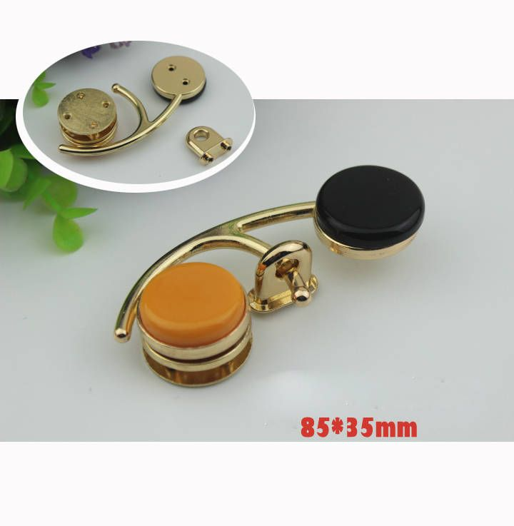 10--100sets 68mm  DIY fashion black gold and orange a flower twist turn lock,bag and purse decorative flower thumb lock , wholesale ks-607 by kesterpurse on Etsy