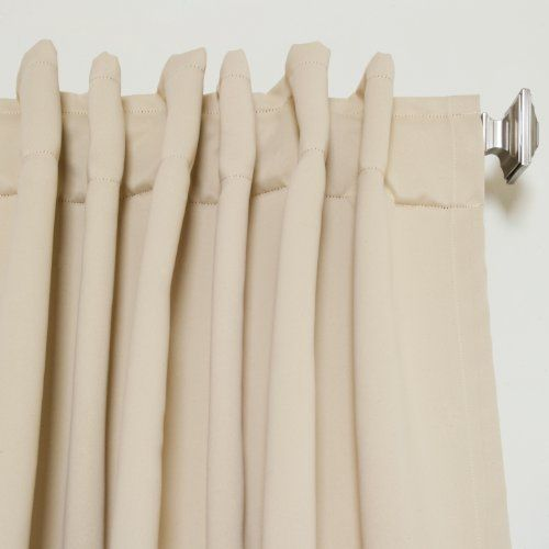 beige rod pocket energy saving thermal insulated blackout curtain 108 inch length pair http