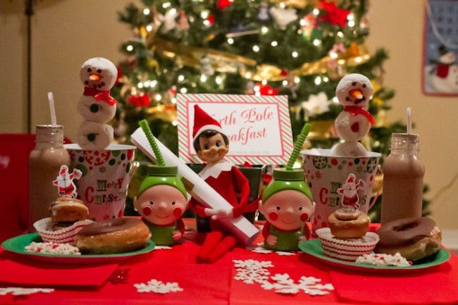 Have elf show up on the first day with a note from Santa and a North Pole breakfast | iheartnaptime