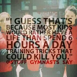 Stuff gymnast say