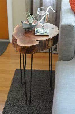 Mesa con tronco ideas para el hogar pinterest tables - Tree trunk table decorations ...