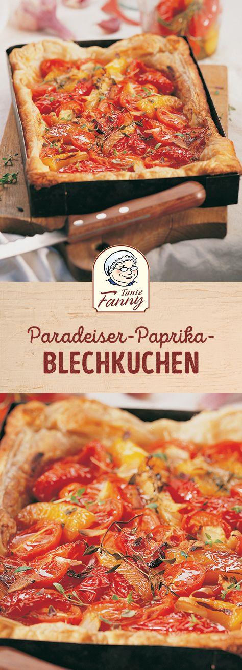 Tomaten-Paprika-Blechkuchen