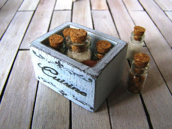 Dollhouse Miniature French style wooden crate by DewdropMinis
