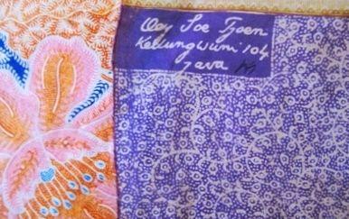Oey Soe Tjoen signature Batik