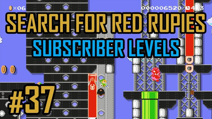 Search for the Red Rupies - Subscriber Levels #37 Super Mario Maker - Ta...