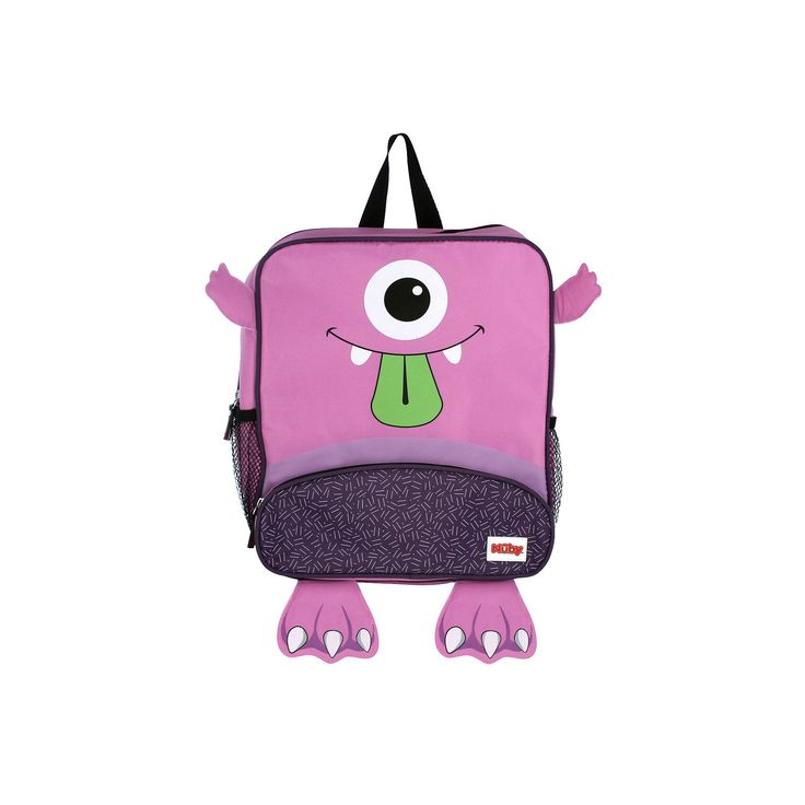Nuby Monster Backpack and Lunch Bag Set, Purple