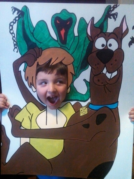 Scooby doo party! Make it yourself! Poster board, marker and paint!