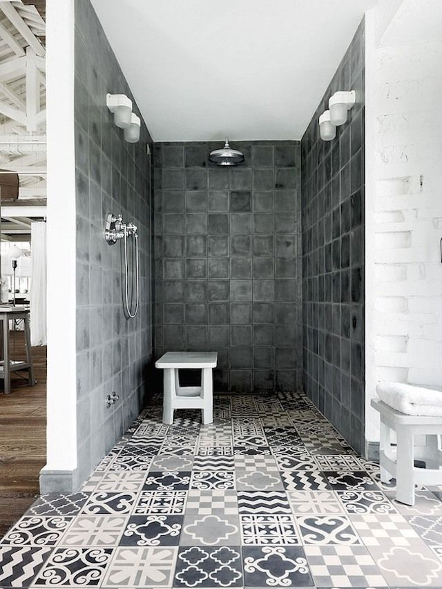 Black And White Villa in Umbria, Italy, by Paola Navone.