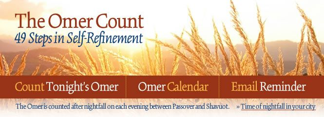 Sefirat HaOmer - Counting of the Omer - Jewish Holidays
