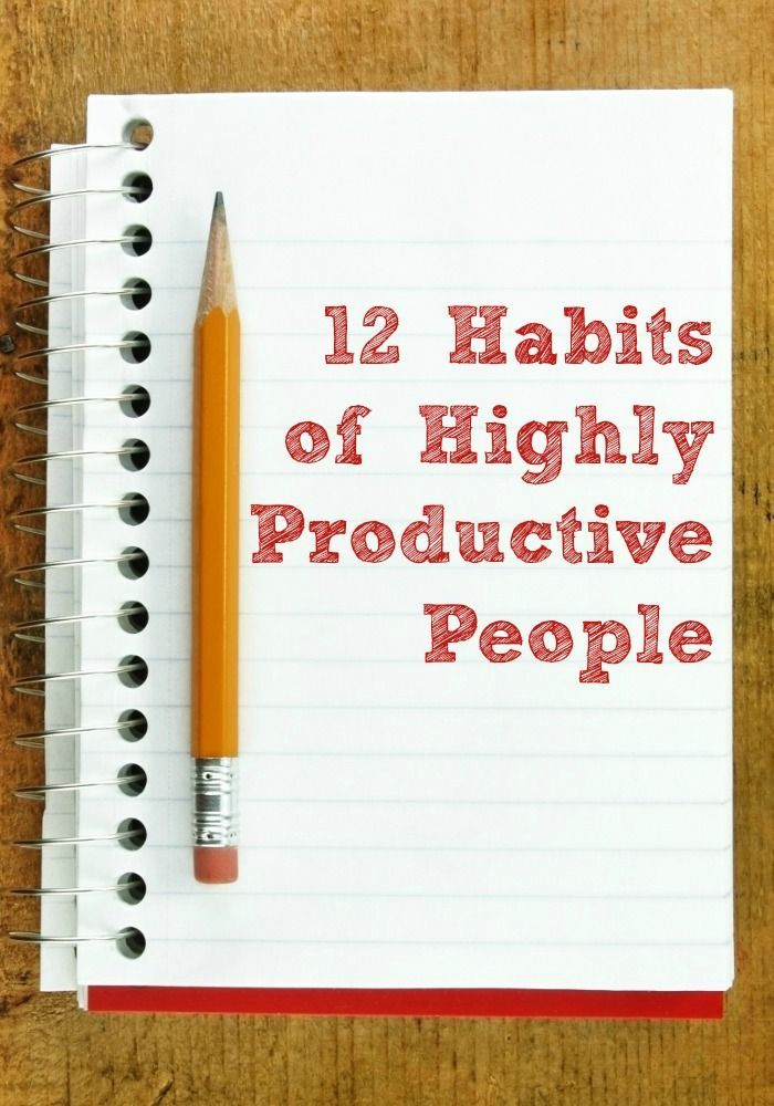 12 Habits of Highly Productive People. Great productivity tips for work, college, home, anywhere! #productivity Productivity Tip #productive