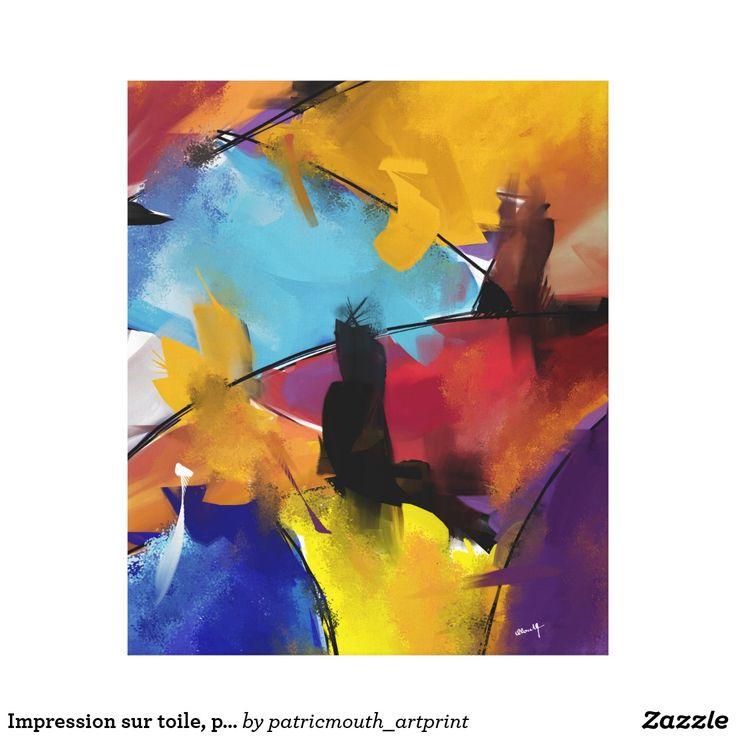 """Impression sur toile, petit modèle """"Abstract 1412"""""""
