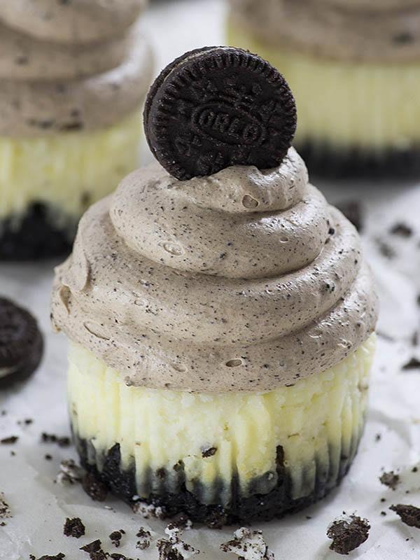 Beste Chocolate Mousse Oreo Cheesecake Cupcakes | Recept - Mini GI-07