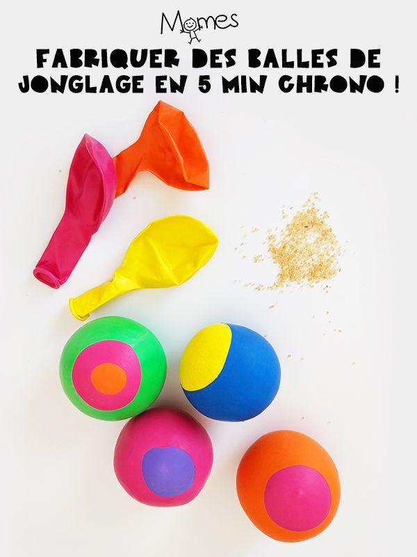 Voici comment fabriquer des balles de jonglage à partir de ballons de baudruche, parfaites pour s'entraîner ! D'ailleurs on vous propose aussi quelques exercices pour apprendre à jongler.