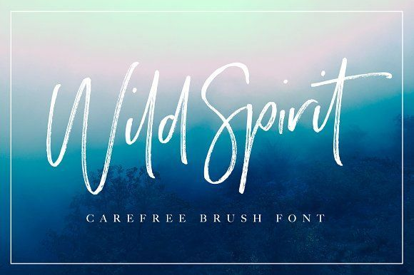 Wild Spirit Font  by Sam Parrett on @creativemarket Wild Spirit! A carefree and untamed brush font with a natural flow. Handmade with long organic strokes, Wild Spirit isn't held back by any boundaries or expectations. It's the perfect choice for personal branding projects, handwritten quotes, homeware designs, product packaging - or simply as a modern & stylish text overlay to any background image.