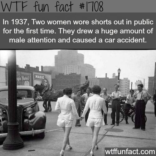The first girls to wear shorts in public - WTF fun facts -- Fashion history!
