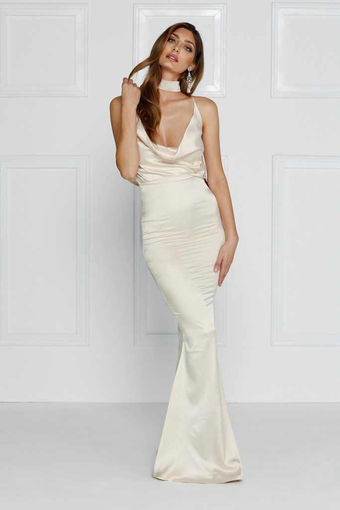 Alamour The Label - Cristanemi Champagne Gown