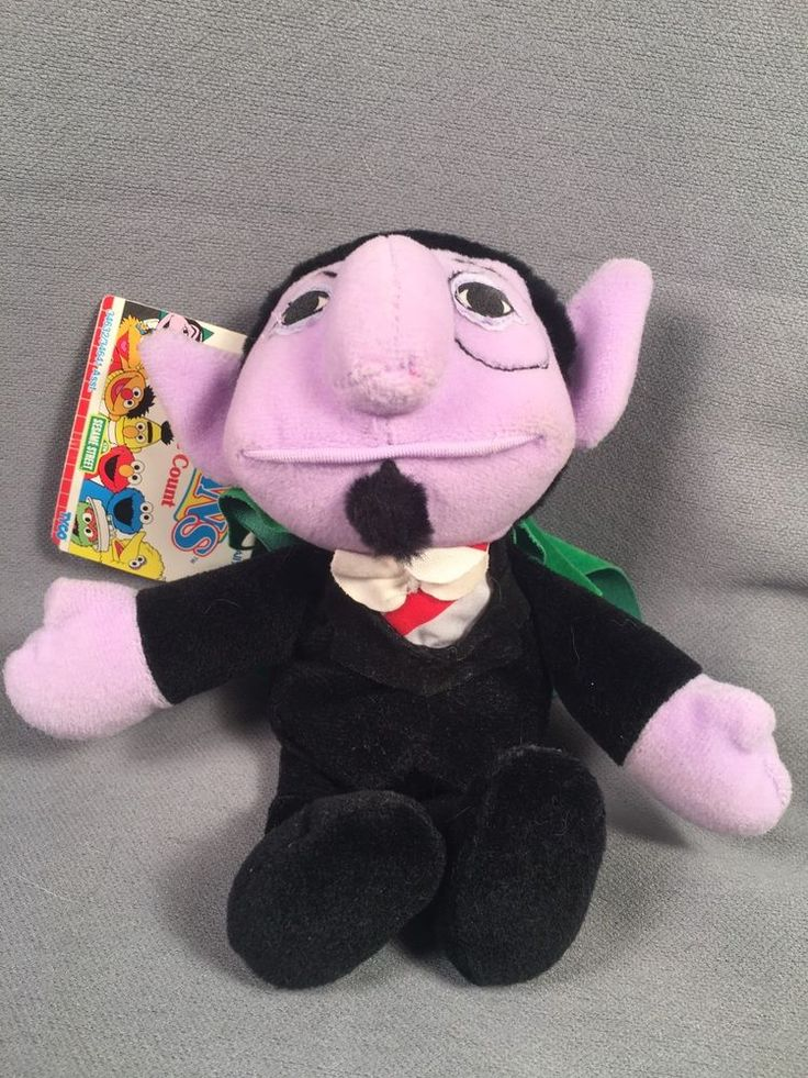 Sesame Street Beans- The Count 8 Inches 1997 With Tag Tyco #TYCO