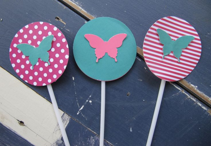 Butterfly Party Cupcake Toppers
