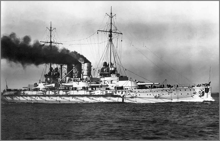 SMS Ostfriesland was the second vessel of the Helgoland class of battleships of the German Imperial Navy. Named for the region of East Frisia, Ostfriesland's keel was laid in October 1908 at the Kaiserliche Werft dockyard in Wilhelmshaven. She was launched on 30 September 1909 and was commissioned into the fleet on 1 August 1911. The ship was equipped with twelve 30.5-centimeter (12.0 in) guns in six twin turrets, and had a top speed of 21.2 knots (39.3 km/h; 24.4 mph). Ostfriesland was…