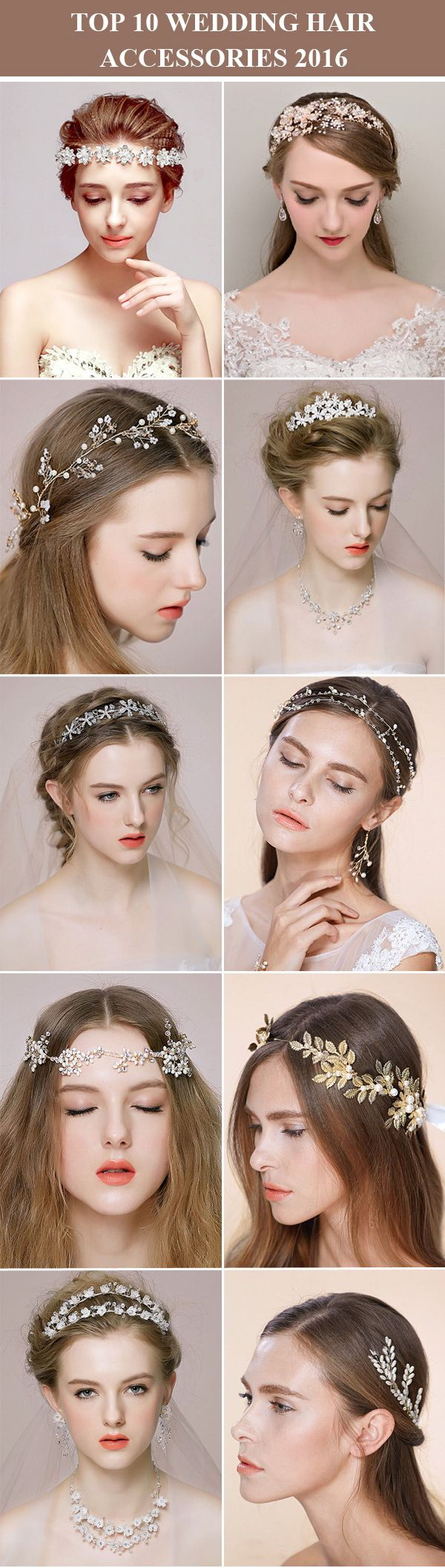 top 10 wedding hair accessories, wedding hairpieces and wedding headbands for 2016 from @tullechantilly