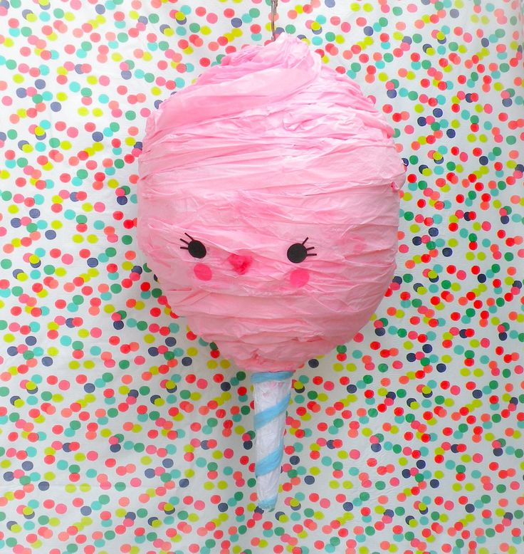 This big sweet cotton candy piñata, is perfect for a circus, carnival or fair theme party!Piñatas are handcrafted in southern California upon order and take between 3-4 weeks to process. Rush o...