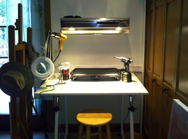 Setting Up A Small #Encaustic Wax Studio #arttip