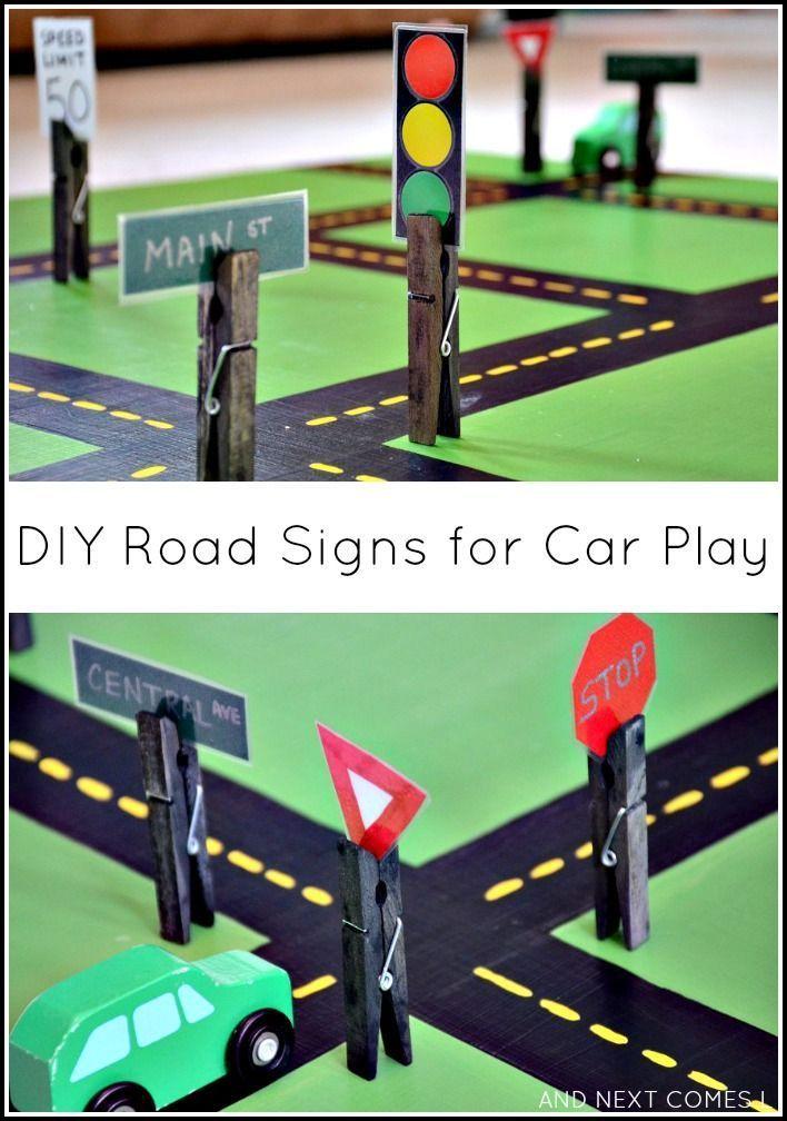 DIY Road Signs for Car Play