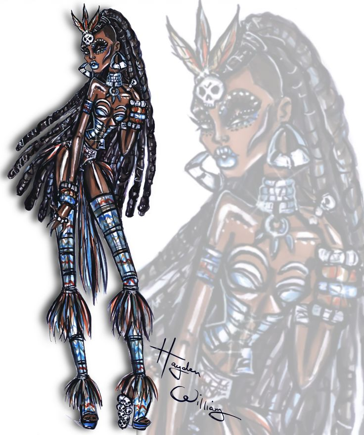 'Voodoo Priestess' by Hayden Williams #HauntCouture #Halloween| Be Inspirational ❥|Mz. Manerz: Being well dressed is a beautiful form of confidence, happiness & politeness