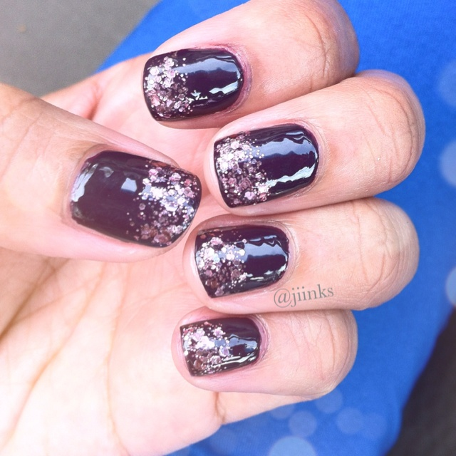 """Essie """"A Cut Above"""" on OPI """"Honk If You Love OPI"""""""