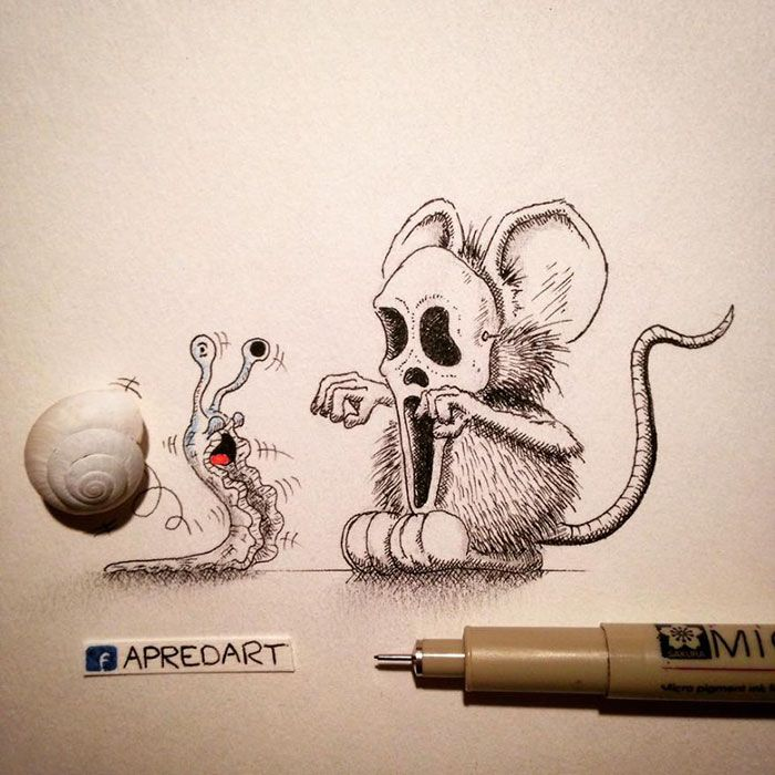 pencil-drawings-mouse-adventures-rikiki-loic-apredart-4