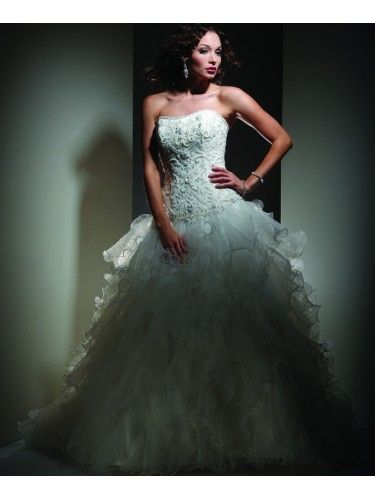 Tulle Soft Sweetheart Laced Bodice Ball Gown Wedding Dress