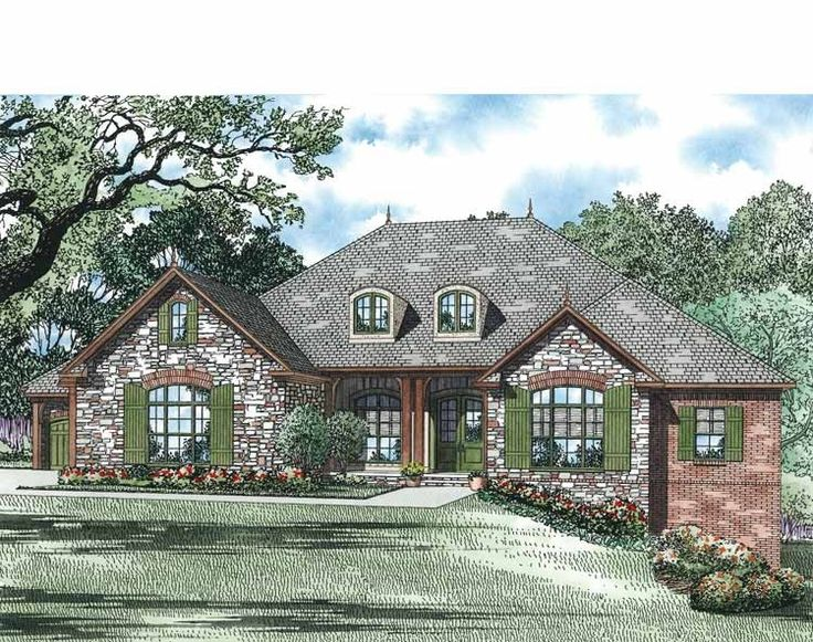 Eplans french country house plan open floor plan with for French country house plans open floor plan