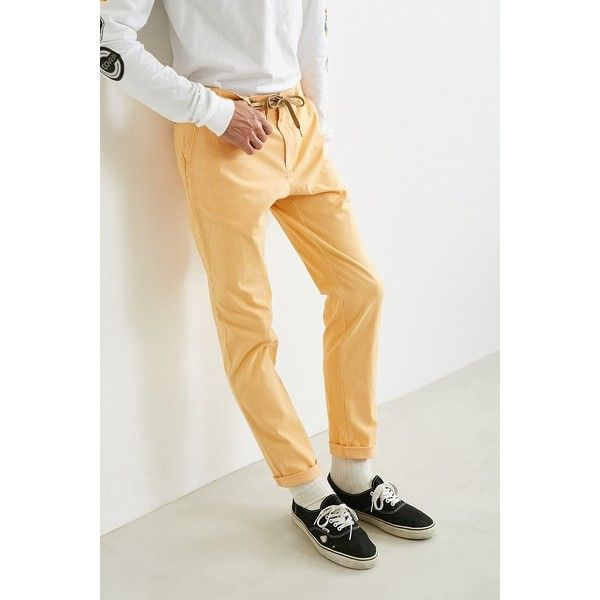 UO Easton Skinny Stretch Chino Pant ($49) ❤ liked on Polyvore featuring men's fashion, men's clothing, men's pants, men's casual pants, mens skinny fit dress pants, mens zip off pants, mens skinny chino pants, mens chino pants and mens chinos pants
