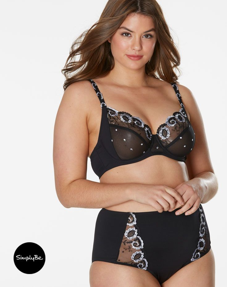 c0077d3171 ... Bra s and Underwear by Simply Be. With stunning embroidery and  semi-sheer top cups