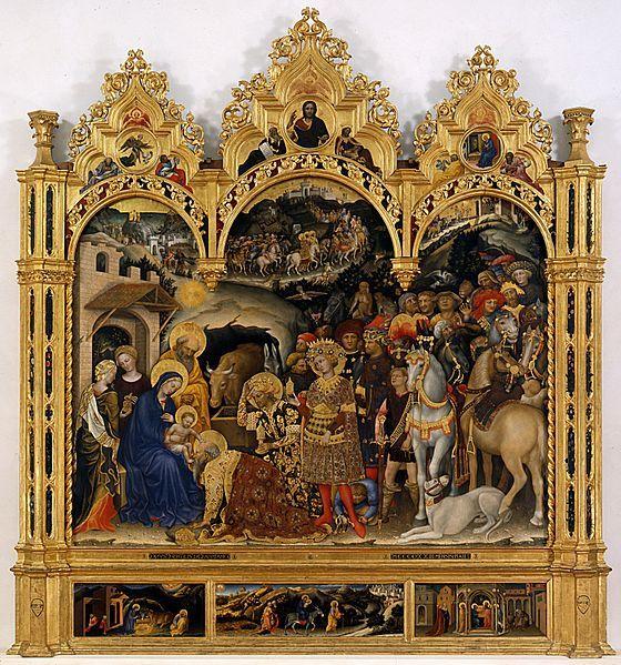 Gentile da Fabriano, Adoration des mages, 1423, Florence, Galerie des Offices