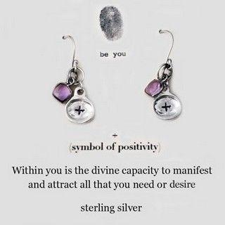 b.u. Earrings - + symbol of positivity