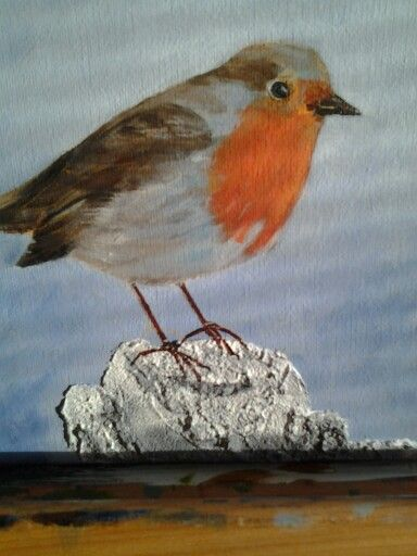 Red Robin acryl painting 20x20