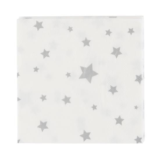 Toot Sweet Silver Star Napkins (Set of 16)  | The Land of Nod