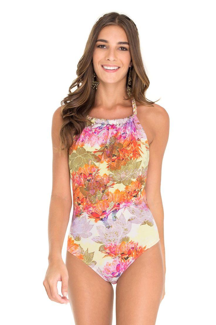 maiô trança deserto floral - Linha praia | Dress to