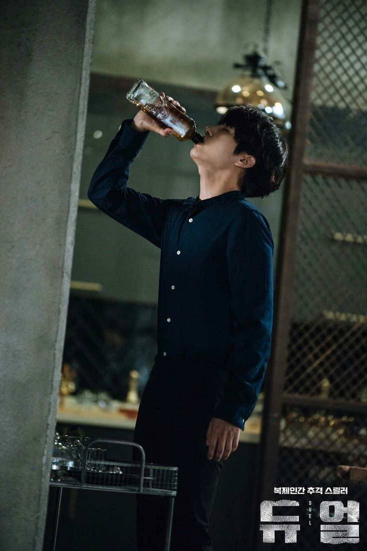 Sung Hoon was kind of an Alcoholic man.... the only way he could numb the pain!! :'(