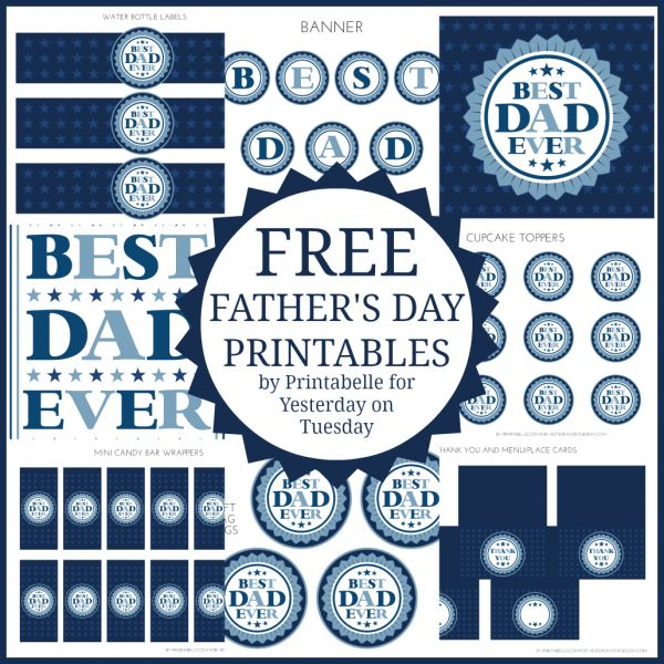 """Best Dad"" Free Father's Day Printables 
