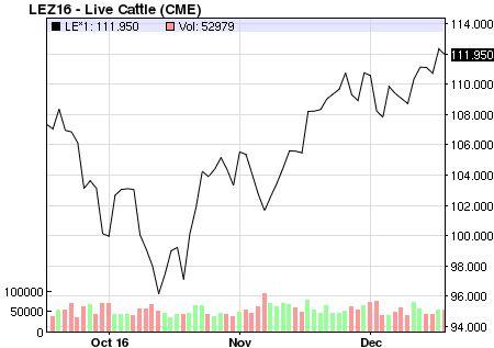 Commodities: Latest Live Cattle Price & Chart